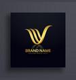 letter v creative premium golden logo design vector image vector image