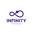 line infinity logo isolated on white background vector image vector image