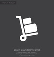 Luggage trolley premium icon vector image