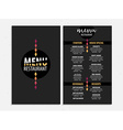 Menu cafe restaurant template placemat Food board vector image vector image