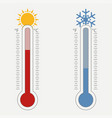 meteorological thermometer vector image