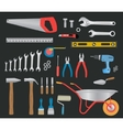 Modern hand tools instruments collection vector image vector image