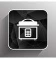 Multicooker monochrome icon button chef cook vector image