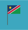 namibia flag icon in flat design vector image vector image