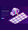 online education isometric concept vector image vector image