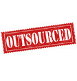 outsourced sign or stamp vector image