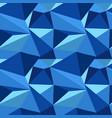 polygonal blue pattern vector image vector image
