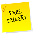 Post it with free delivery advertising vector image vector image