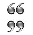 quotation black vector image