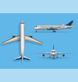 realistic passenger airplane mock up airliner vector image