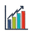 Scribble bar chart icon