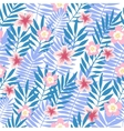 Seamless pattern Tropical background with flowers vector image