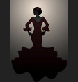 silhouette of typical spanish woman wearing vector image vector image
