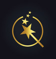 star stick magic abstract gold logo vector image