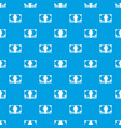 swiss franc banknote pattern seamless blue vector image vector image