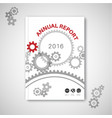technical abstract gear brochure report design vector image vector image