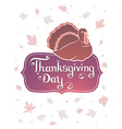 thanksgiving with gradient turkey bird and t vector image vector image
