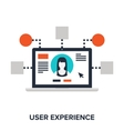 User experience vector image