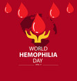 world hemophilia day april 17 vector image vector image