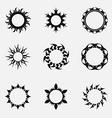 Circle tribal ornaments vector image