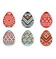 easter eggs set in paper cut style for vector image
