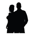 couple silhouette happy in black color vector image