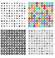 100 financial resources icons set variant vector image vector image
