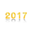 2017 gold on white background vector image