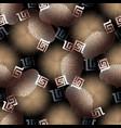 3d geometric seamless pattern modern vector image