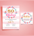 adult birthday invitation milestone birthday vector image vector image