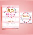 adult birthday invitation milestone birthday vector image