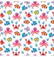 animal sea pattern vector image vector image