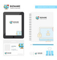avatar on monitor business logo tab app diary pvc vector image vector image