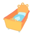 Baby bed icon cartoon style vector image vector image