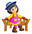 beautiful little girl sitti