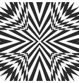 black and white geometric striped background vector image vector image