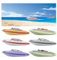 boats and beach vector image vector image