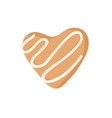 cartoon ginger bread cookie heart hand drawn vector image vector image