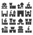 castle icon set vector image vector image