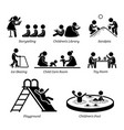 children recreational facilities and activities vector image