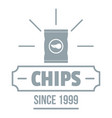 chips logo simple gray style vector image vector image