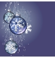 christmas background with glass balls vector image