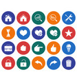 collection of round icons user interface set 2 vector image vector image