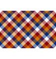Colored diagonal check seamless fabric texture vector image vector image