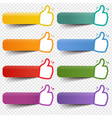 colorful badge set with ribbon and transparent vector image