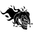 crazy creepy joker face angry clown with evil vector image vector image