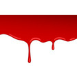 drip red blood jam paint splash and vector image vector image