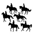 Equestrian Silhouettes vector image vector image