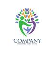 family health logo vector image vector image