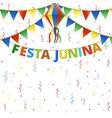 festa junina festival bunting vector image vector image